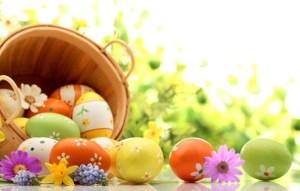 Окрашивание яиц, пасхальная корзина
