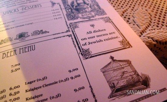 menu di warung mbak sarah