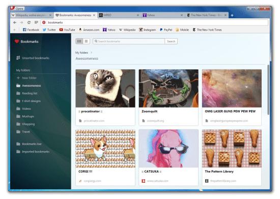 Screenshot Opera untuk Windows