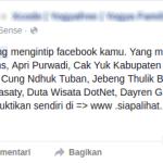 Cara menghapus akses siapalihat.com di Facebook