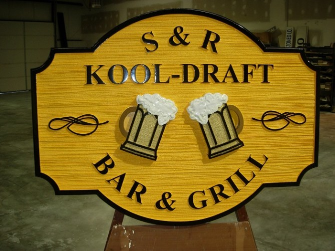 bar sign sandblasted hdu