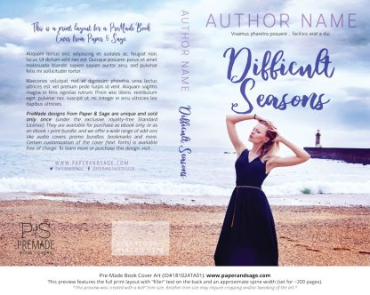 Print layout for Pre-Made Book Cover ID#181024TA01 (Difficult Seasons)
