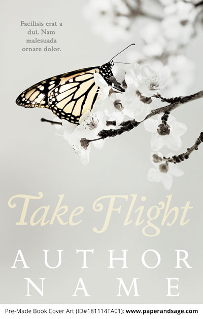 Pre-Made Book Cover ID#181114TA01 (Take Flight)
