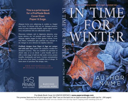 Print layout for Pre-Made Book Cover ID#181209TA01 (In Time for Winter)