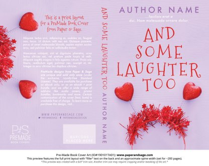 Print layout for Pre-Made Book Cover ID#190101TA01 (And Some Laughter Too)