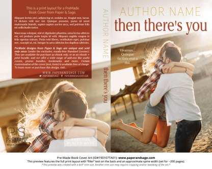 Print layout for Pre-Made Book Cover ID#190107TA01 (Then There's You)