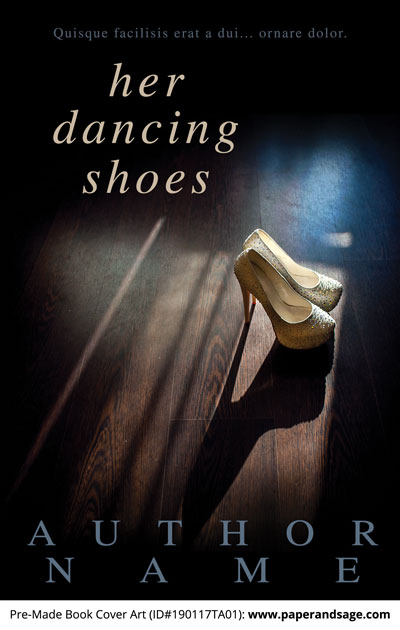 Pre-Made Book Cover ID#190117TA01 (Her Dancing Shoes)