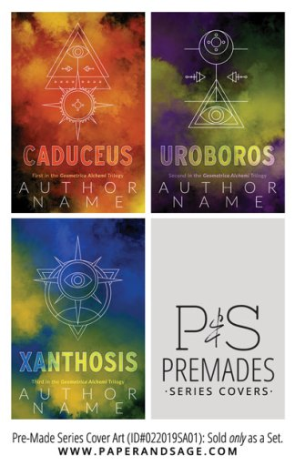 PreMade Series Covers ID#022019SA01 (Geometrica Alchemi Trilogy, Only Sold as a Set)
