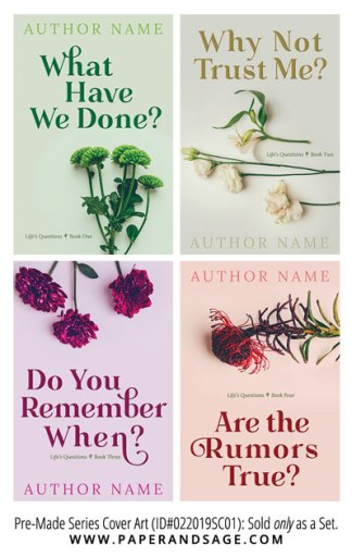 PreMade Series Covers ID#022019SC01 (Life's Questions Series, Only Sold as a Set)