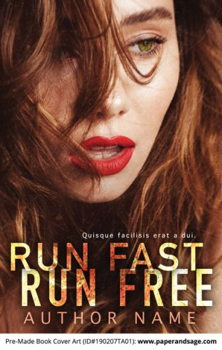 Pre-Made Book Cover ID#190207TA01 (Run Fast Run Free)