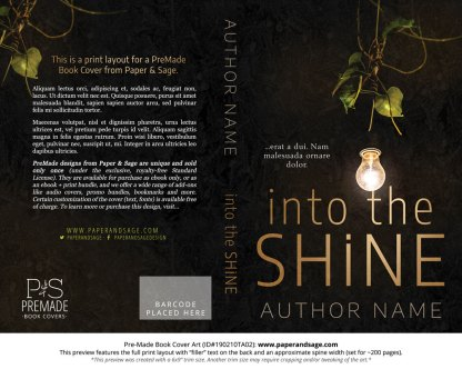Print layout for Pre-Made Book Cover ID#190210TA02 (Into the Shine)