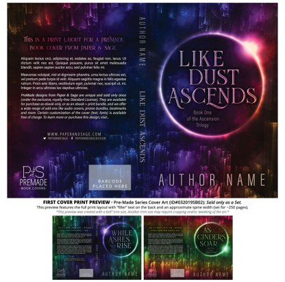Print layout for PreMade Series Covers ID#032019SB02 (Ascension Trilogy, Only Sold as a Set)