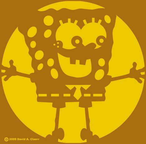 sponge bob pumpkin