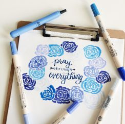 Pray through everything.