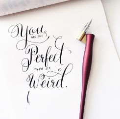 You are the perfect type of weird.