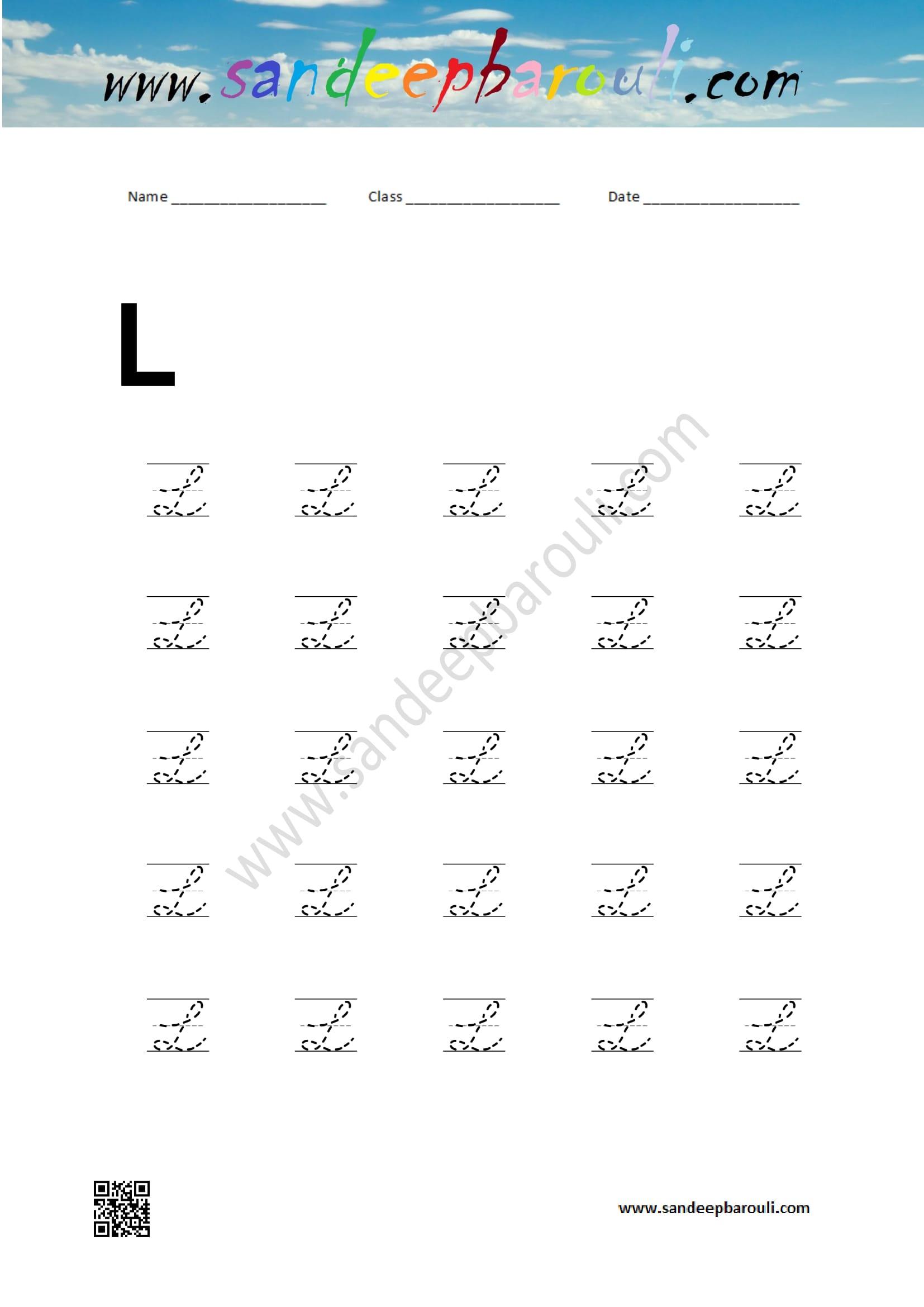 Cursive Capital Letters Sandeepbarouli