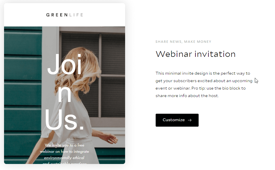 Flodesk invitation