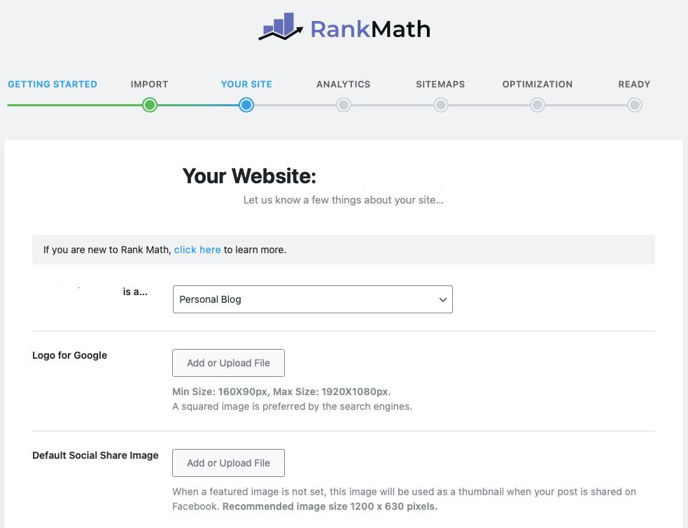RankMath Site Settings