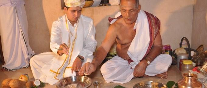 puja preparations morning