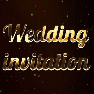 How To Create Wedding Invitation Video In Premiere Pro Animated Golden Wedding Title Preset Hindi