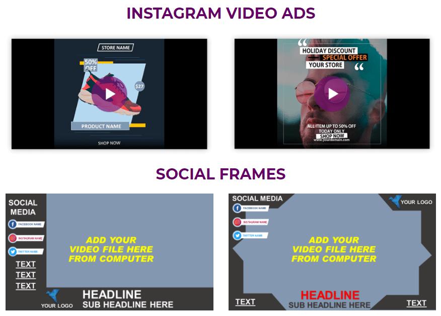 graphysuite instagram video ads template