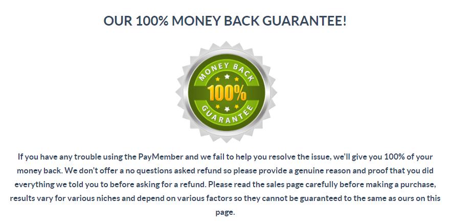 paymember review money back guarantee