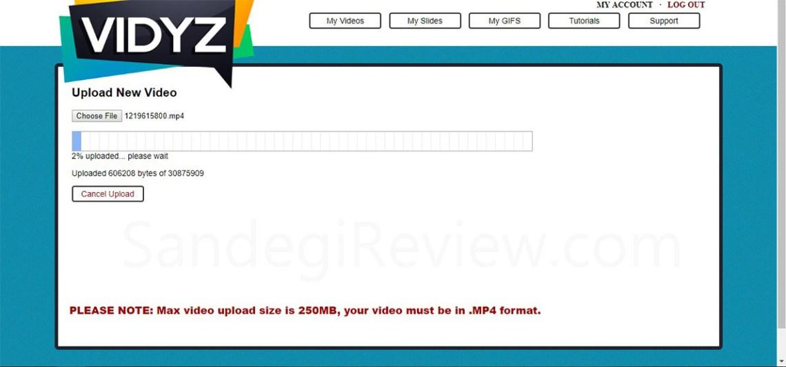 vidyz review uploading process