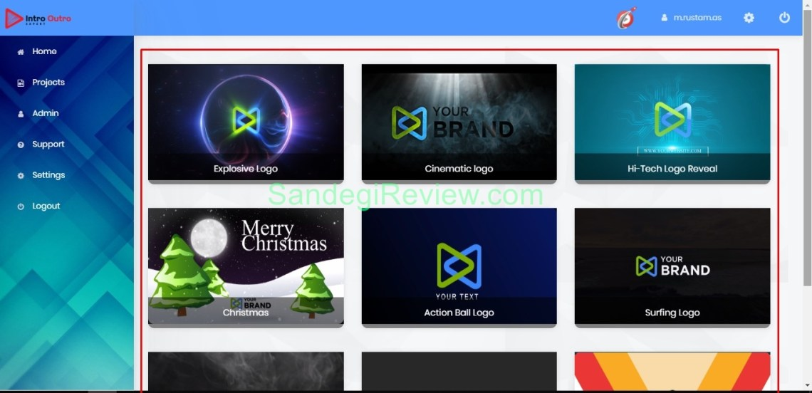 video app suite intro outro app