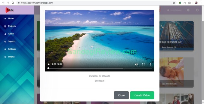 video app suite slide machine app