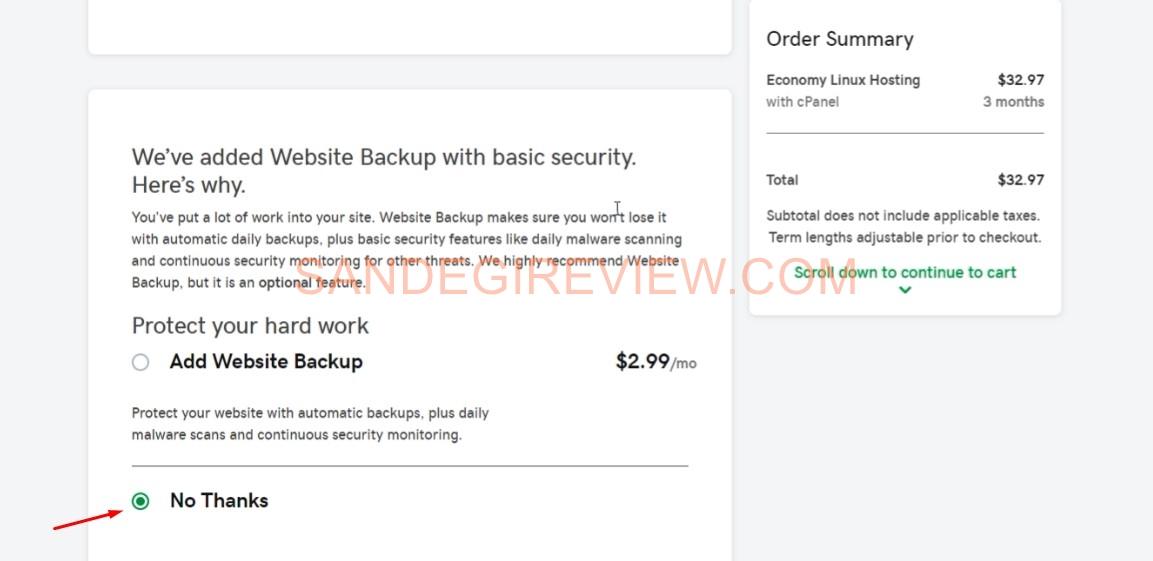 buy hosting step 3