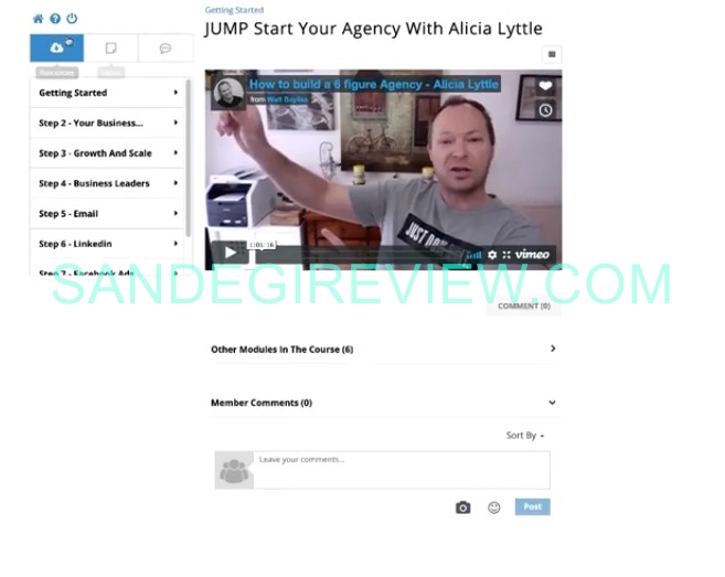 agency bud review inside member area