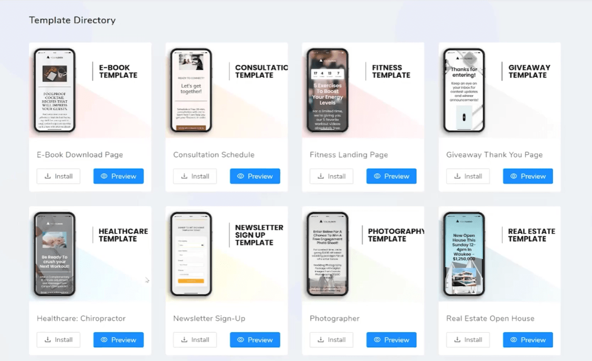 mobile pages by adsightpro review the templates