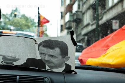 Pro Assad demonstratie Brussel