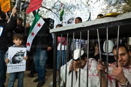 Anti Assad demonstration Brussels