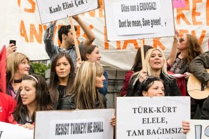 anti erdogan protest in Brussels