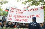 Afghanen Troonstraat protesteren aan kabinet De Block