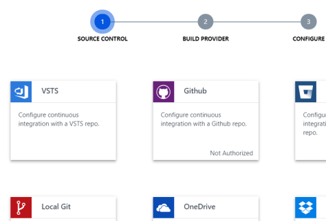 Deployment center in Azure