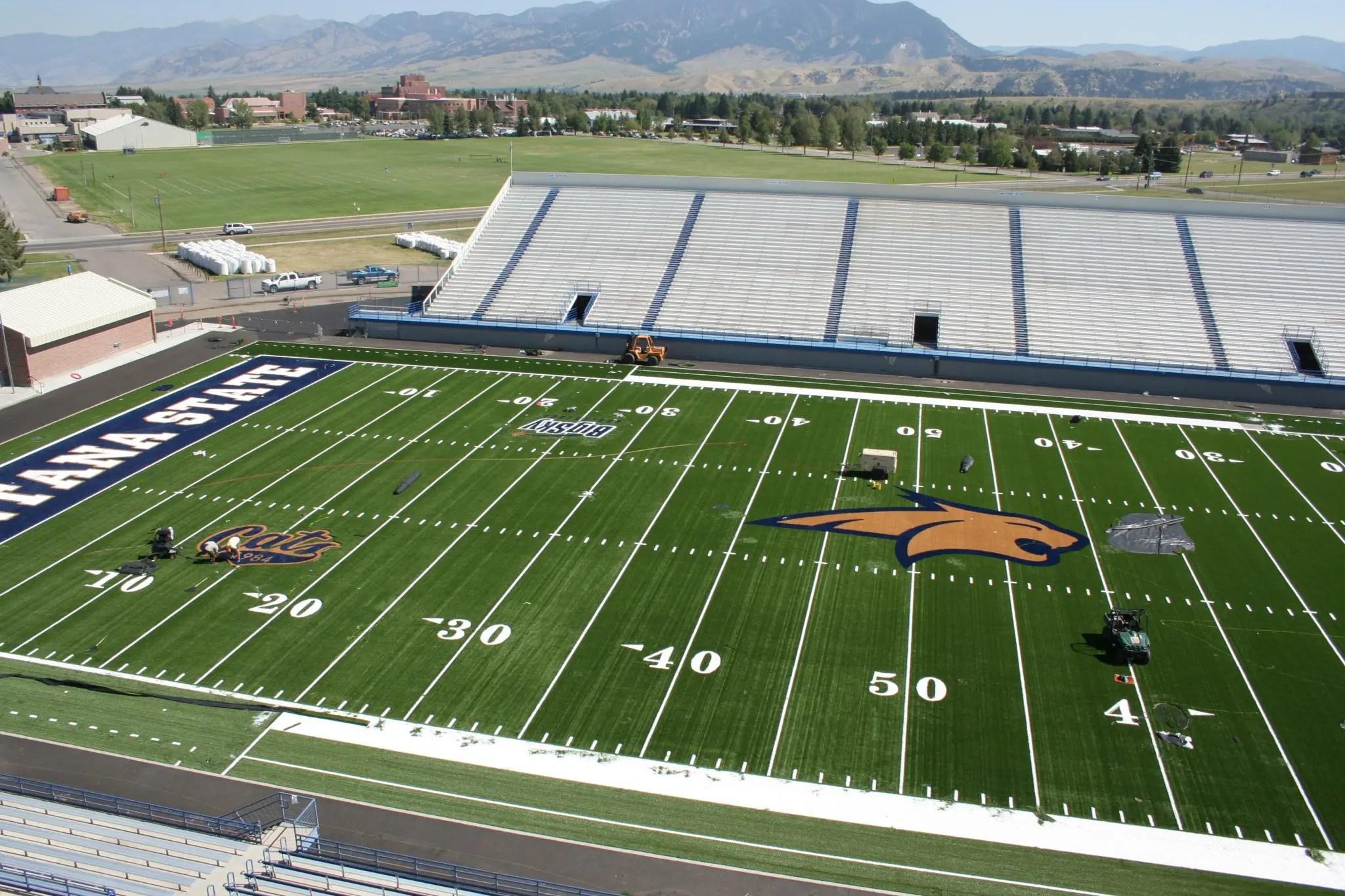 Montana State University Bobcat Stadium Field Turf