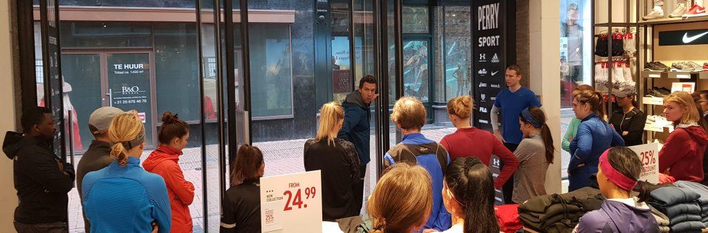 Run clinic met Robert Lathouwers bij Perry Sport
