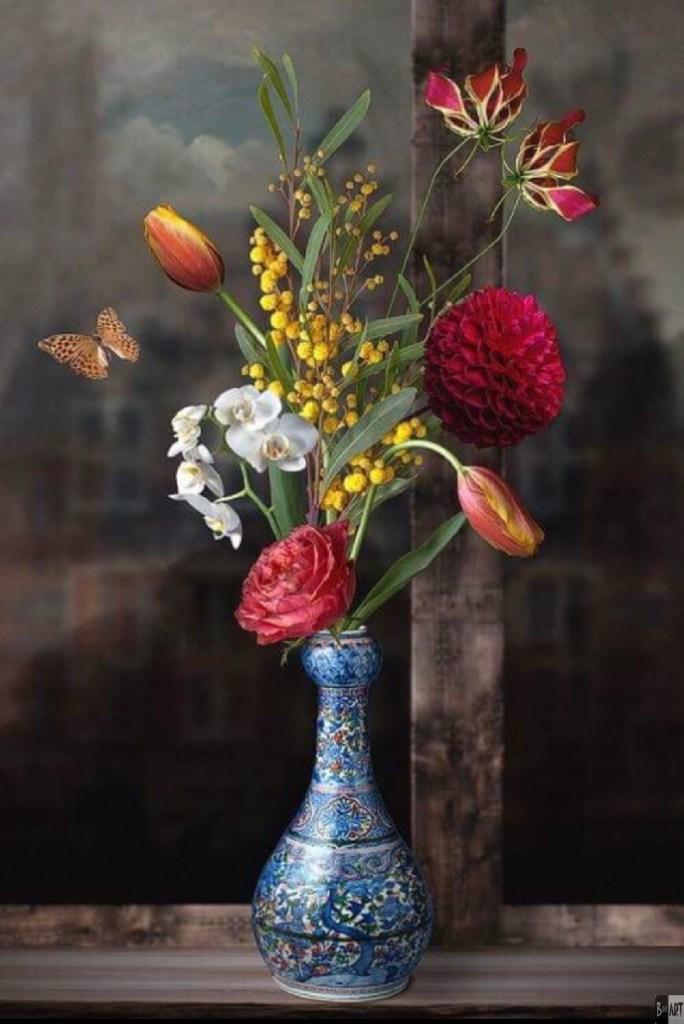 Royal Blueeen prachtig kunstwerk van Kunstenaar Sander van Laar uit Veenendaal. Dit werk is gelimiteerd te koop