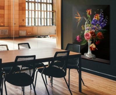 Flowerart Sander van Laar interior with flowerstill