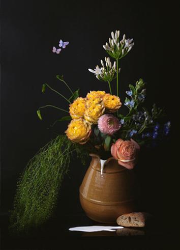 melkmeisje fotokunst flowerart
