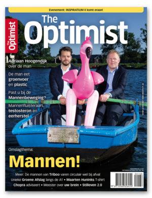 Sander van Laar de bloemenkunstenaar van 21e eeuw in The Optimist Nederlands Tijdschrift met hedendaagse kunstwerken onder andere Royal Blue, Royal FLora
