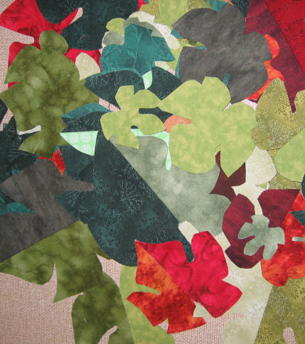 Grape leaves ready for fused applique