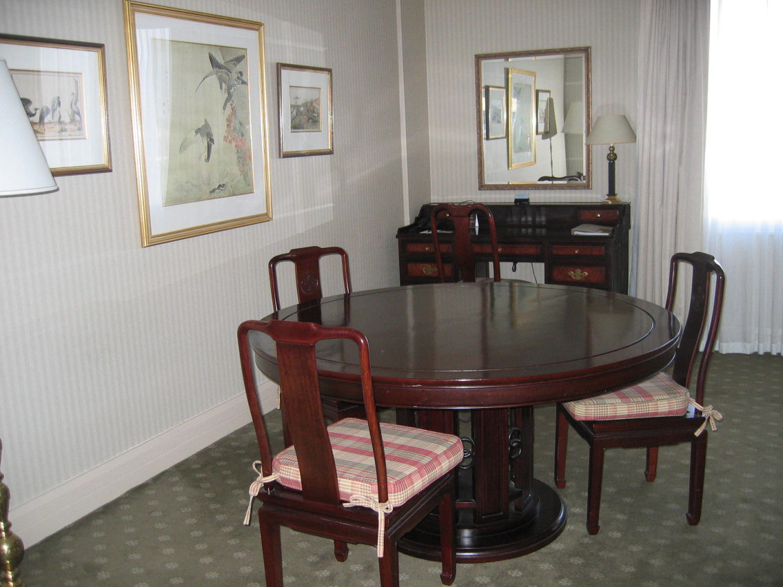 Dining/study area of King Suite