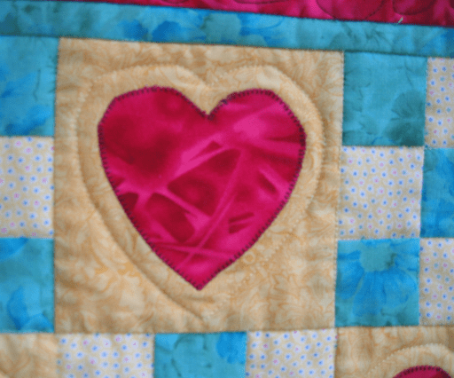 Detail of Blanket of Love quilt
