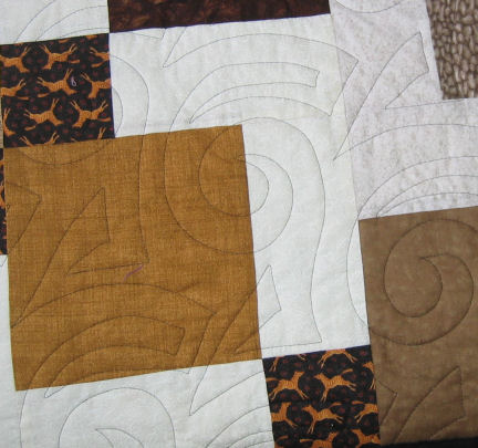 Back of quilt showing quilting