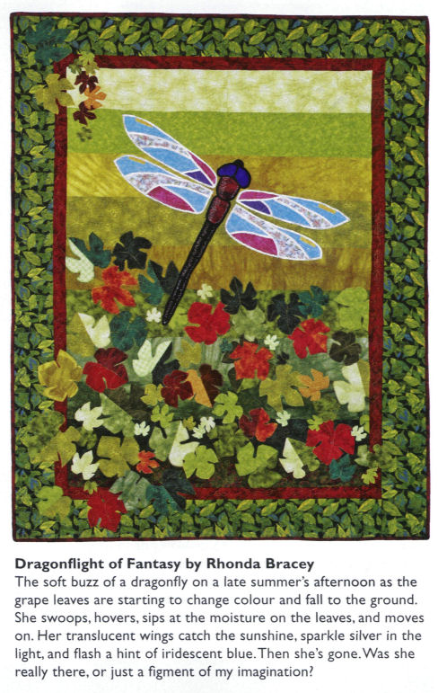 My Dragonfly quilt in APQ Annual 2009 -- page 91