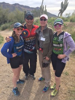 Junior Pro Shooters Jalise & Justine Williams and their coach Glen Wong-2017 Area 2 Championship