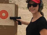 New shooter - private lesson - lots of bullseyes.